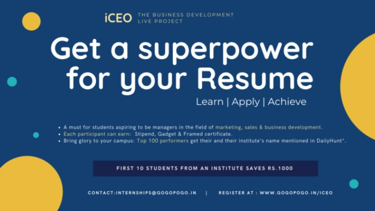 Social commerce startup GogoPogo, founded by IIM alumnus, launches its flagship student engagement program - iCEO